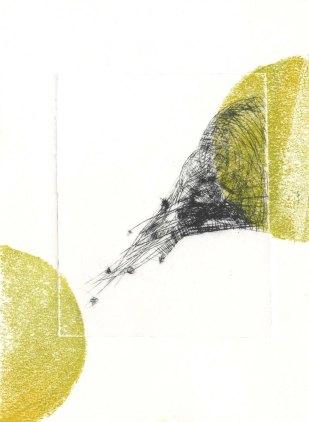 Hasti-Nisti,Drypoint,Monoprint on paper,2015