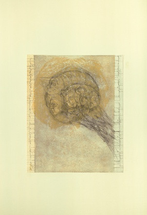 Drypoint,Monoprint on paper,2015