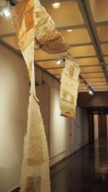 Passengers series, handmade kozo paper installation, 2016.