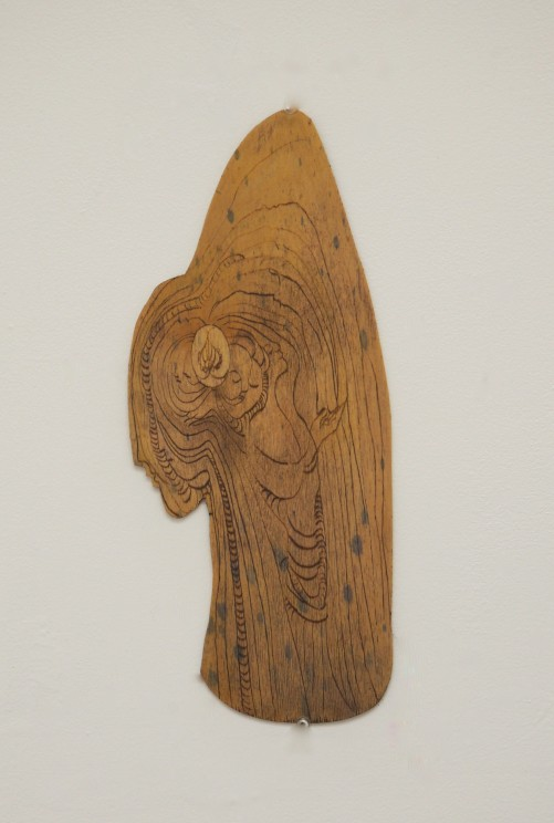 Drypoint wood plate,2015