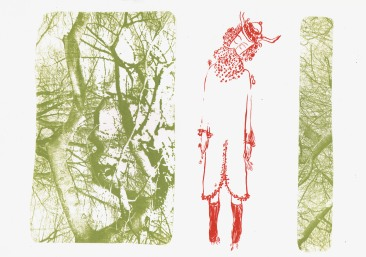 "Kay's Journey Series,screen print,11""x15"""