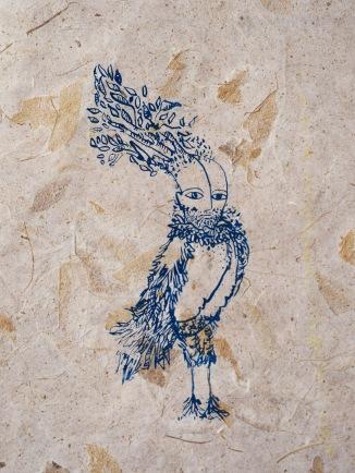 """Ojayeb Bird, screen print, 12""""x12"""",2016."""