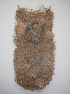 Untitled, 2018 Kenaf and handmade paper 48 x 25 in.