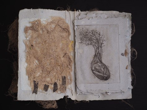 2018 Etching and handmade paper 10.5 x 7 in. / 10.5 x 14 in. (book open)