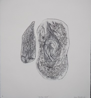 Hidden Seed I, 2017 Etching 15.75 x 12.5 in.